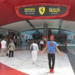 Superman visite Ferrari WORLD
