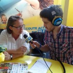 Cyril MICHAUD interviewe en direct du stand Liliane FAURE, Maire de Montbrison
