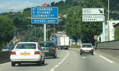 L'A47 entre Saint-Etienne et Givors / Photo DR