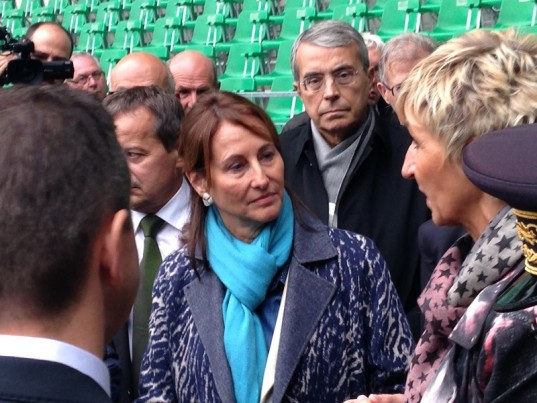Ségolène Royal, en visite à Geoffroy-Guichard, samedi 10 octobre 2015 / photo Activ Radio