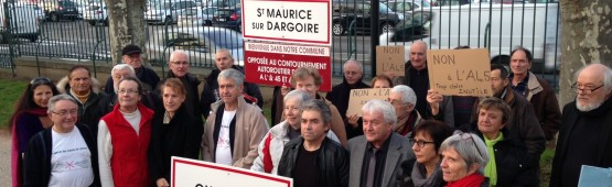 Les associations montent au créneau contre l'A45 / Photo ACTIV RADIO