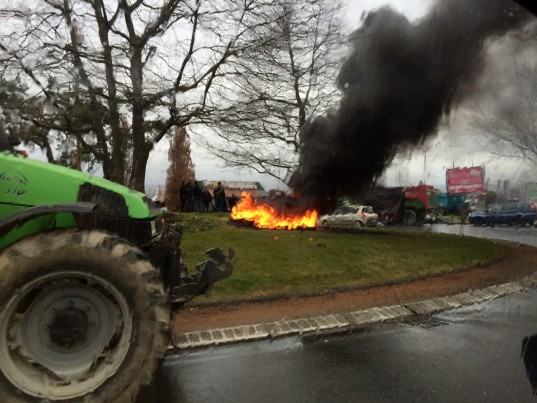 Manifestation d'agriculteurs / Photo ACTIV RADIO