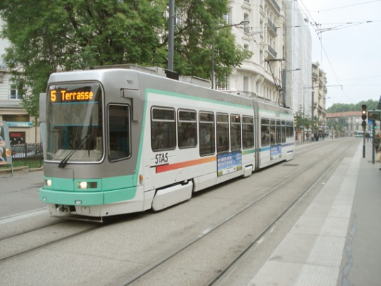 Un tramway de la STAS / Photo DR