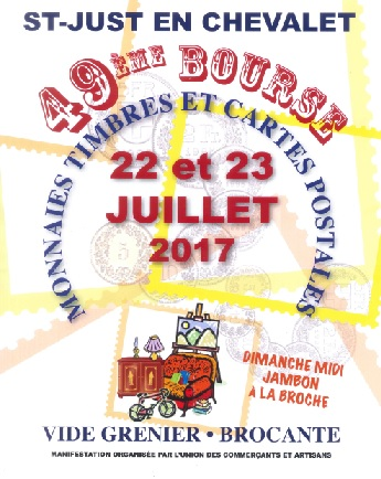 BOURSE AUX TIMBRES A ST JUST EN CHEVALET