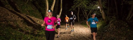 Des participants à un trail nocturne / photo DR