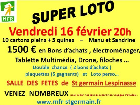 SUPER LOTO ST GERMAIN LESPINASSE