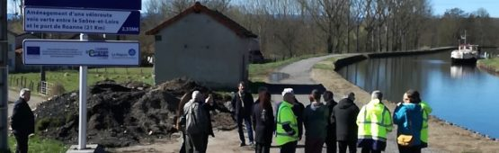 La portion de la Véloroute Voie Verte à Briennon. crédit photo :  activradio.com